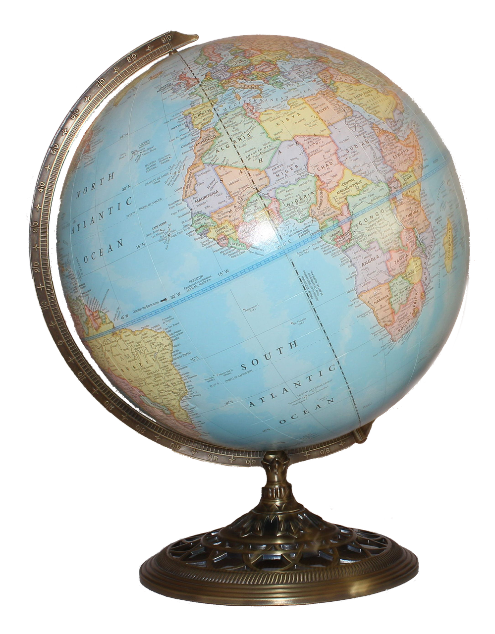 globe, world, map